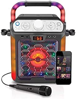 Create Fun,Lasting,Singable Moments with Cool,Colorful and Exciting Singing Machine Karaoke Cube Multi-Function Karaoke System with Dancing Lights,Makes a Great Gift