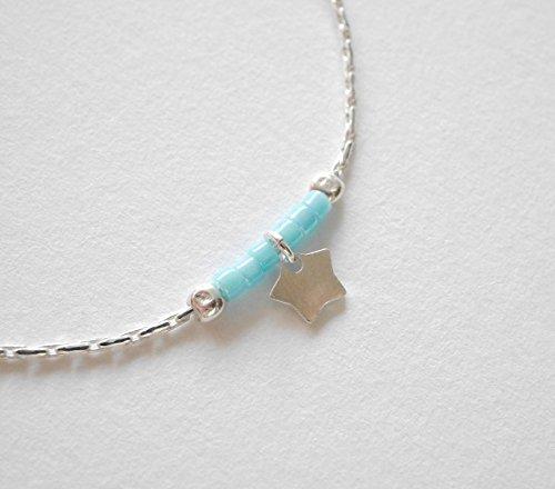 Bracelet argent enfant bébé - fillette ou garçon - bracelet fin minimaliste étoiles mignon - bijoux mignon enfant bébé - cadeau de naissance