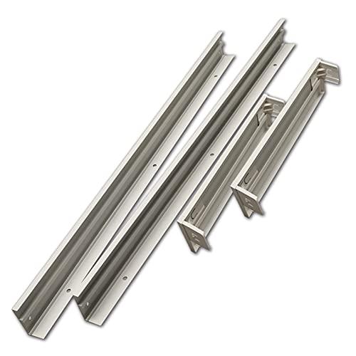 Soporte de Superficie para convertir Panel slim. Color Marco blanco. Fabricado en Aluminio. Kit para Techos. Convertir panel led empotrar en superficie facilmente. (120x60cm)