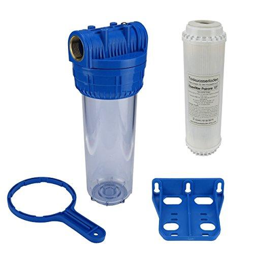 """Wasser Filtergehäuse 10"""" 3-teilig 1"""" IG Messing Vorfilter Brunnen + Eisenfilter"""