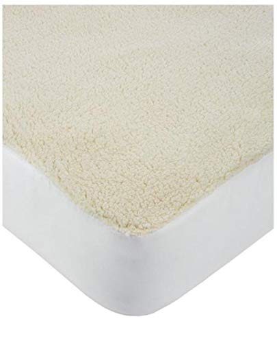 CnA Stores – Super Soft Warm Sherpa Fleecy Mattress Protector Single Extra Deep Fitted 40cm Non-Allergenic Plush Mattress Cover