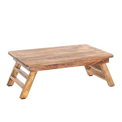 TABLETTTISCH FOLD | Natur, 60x40 cm, Mahagoni, Shabby Design | Frühstückstablett