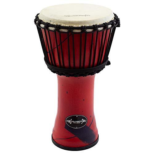 World Rhythm MDJ001-RD - Djembe con parche de piel...