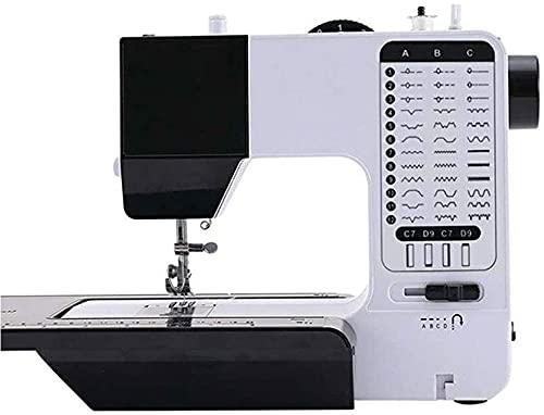 LLDKA Máquina de Coser doméstica, Mini máquinas de Coser Manual con Pedal, multifunción eléctrica, máquinas de Coser