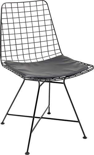 Kare Design Stuhl Grid Schwarz, Esstischstuhl modern, schwarzer Stuhl, (H/B/T) 85,5x47,5x54cm