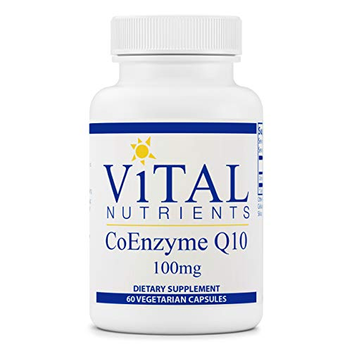 Vital Nutrients - CoEnzyme Q10 - CoQ10 - Potent Antioxidant - 60 Vegetarian Capsules per Bottle - 100 mg