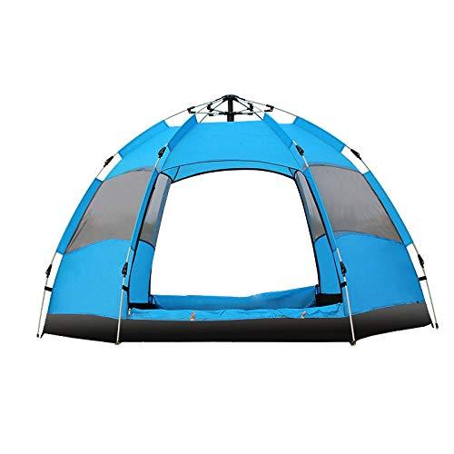 Carpa emergente de instalación rápida para Acampar, máximo 3-5 Personas en Gran Capacidad Automático Anti-Mosquitos Carpa de protección Solar a Prueba de Lluvia a Prueba de Viento 240 * 240 * 135 cm