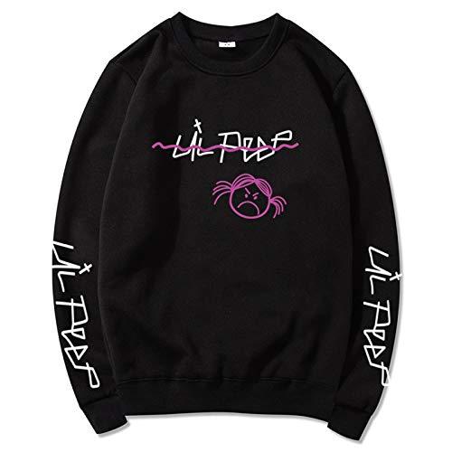 EMPERSTAR Lil Peep Art Chaqueta Suelta Ocio Cómodo con Capucha Unisex Lil Bo Peep Ladies Sweatshirt XL