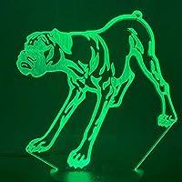 凶暴な犬3D LEDナイトライトクリエイティブホームデコレーション3Dビジョン3Dビジュアル照明7色変更USB充電テーブルランプ誕生日プレゼントエンターテイメント装飾ギフト子供のおもちゃ [並行輸入品]