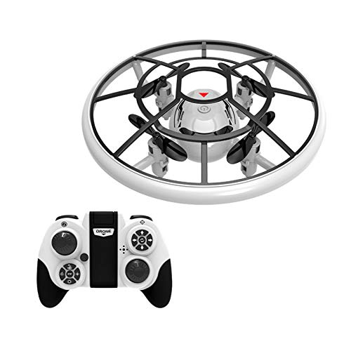 SDDS UFO Mini Drone Helicopter RC Quadcopter for Kids, 2.4G 3D Roll LED Lights One-Click Takeoff/Landing, Headless Mode 3-Speed Transmission, Flying Aircraft Games Gifts Boys Girls Adults