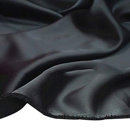 MUYUNXI Tela De Raso Forro De Tela para Vestidos De Novias Fundas Artesanas Vestidos Blusas Ropa Interior 150 Cm De Ancho Vendido por 2 Metro(Color:Gris Oscuro)