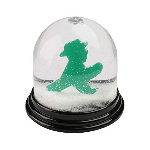 AMPELMANN Schneekugel Ampelmännchen Weiss-transparent-grün 7x7cm