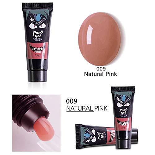 Wopam UV Gel Nagellak Tips Uitbreiding Camouflage Builder Gel Nagel Lijm Snel Droog Eén maat naturel roze