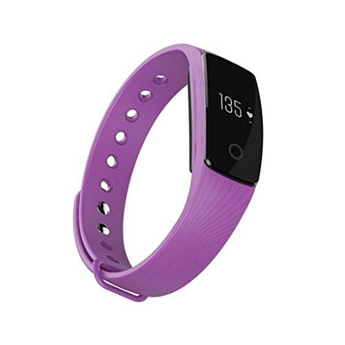 #N/A ID107 Bluetooth Fitness Tracker Pulsmesser Armband - Lila