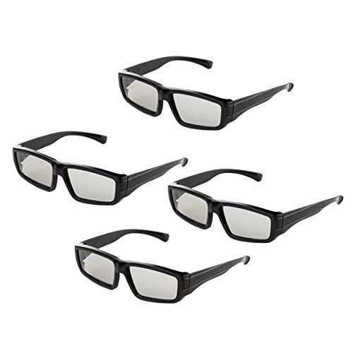 Gafas 3D pasivas Lentes polarizadas circulares para la familia Todas las edades Sony Sharp Toshiba LG Philips y todos los televisores pasivos, RealD Cinema Home Cinema Theaters y proyectores-4 pares