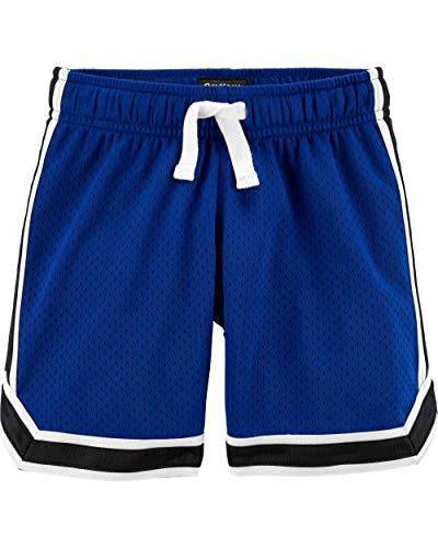 Osh Kosh Boys' Little Mesh Shorts, Harbor Blue/Deep Navy, 7