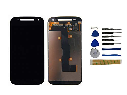 Yixi Display für Motorola Moto E2 XT1505 XT1524 XT1527 XT1511 Display Ersatzdisplay Schwarz LCD Touchscreen Bildschirm Ersatzteile No Rahmen