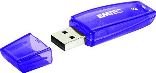 Emtec ECMMD8GC410 - Clé USB - 2.0 - Série Runners - C410 Color Mix - 8 Go - Transparente violette avec capuchon
