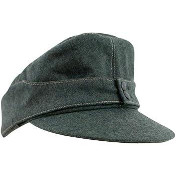 Militaryharbor 第二次世界大戦ドイツ軍M43兵士用規格帽軍帽野戦帽ウール材料フィールドグレ-S(56-57)