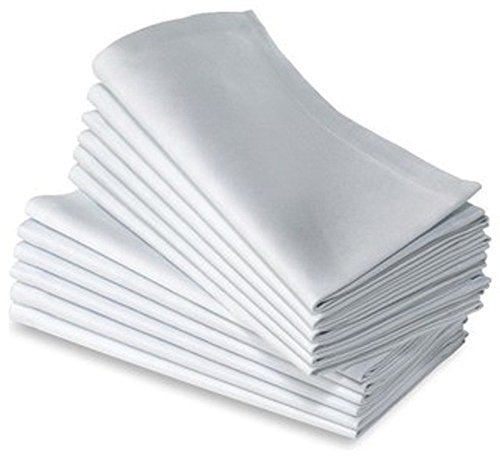 Cotton Dinner Napkins White - 12 Pack (20 inches x20inches) Soft & Comfortable - Expertly Tailored Edges - Durable Hotel Quality - Ideal for Events & Regular Home Use