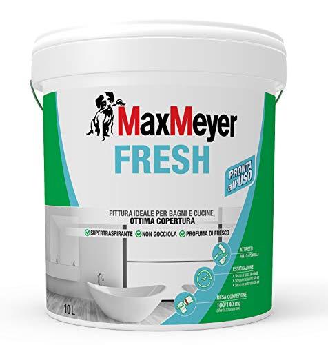 MaxMeyer Pittura per interni Bagni& Cucine Fresh BIANCO 10 L