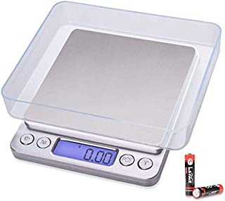 Kitchen Food Scale, Digital Small Jewelry Scale 500g/ 0.01g Weight Gram and Oz with LCD/Tare Battery Included for Cooking ...