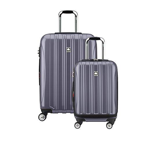 """Delsey Luggage Helium Aero Spinner Luggage Set (19""""/25""""), Titanium"""