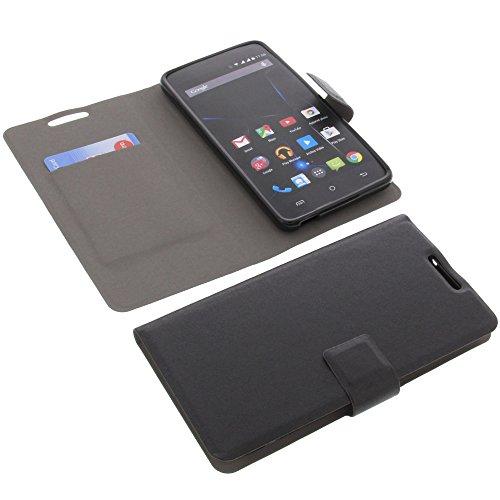 foto-kontor Tasche für Archos 50D Oxygen 50d Oxygen Plus Book Style Ultra-dünn Schutz Hülle Buch Schwarz