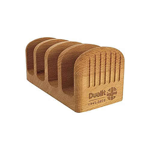 Dualit Toast Rack | FSC Certified Beech | Wood Four Slice Toast Rack - 4 Slice Capacity Toast Holder Racks | 10024