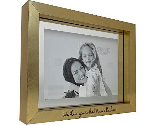 Strictly Gifts Marco de fotos de regalo de familia o amigo We Love You To The Moon & Back xx grabado/con inscripción en inglés
