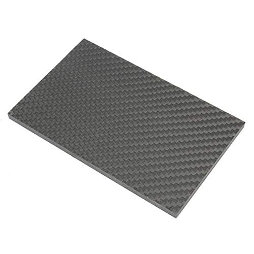 ARONG High Strength Carbon-Faser-Board 3k 129x80 × 5mm gesponnene Kohlenstoff-Faser-Board-Bedienfeld Papier ist geeignet for Craft Produktion Drohne (Size : 129x80×5mm)