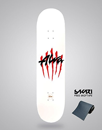 Alva Monopatín Skate Skateboard Old School Scratch 8.5 White