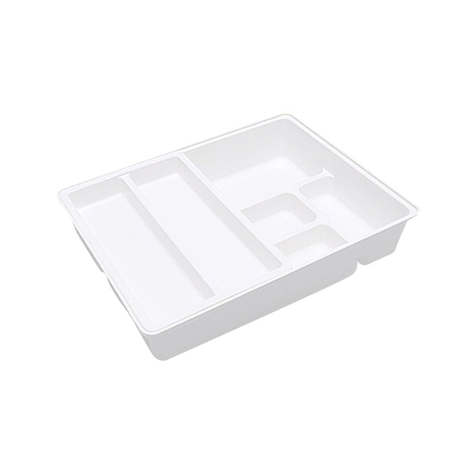 またファンタジーうまれたBESTOMZ キッチン整理トレー 多機能収納ボックス 拡張可能 キッチン用品(ホワイト)