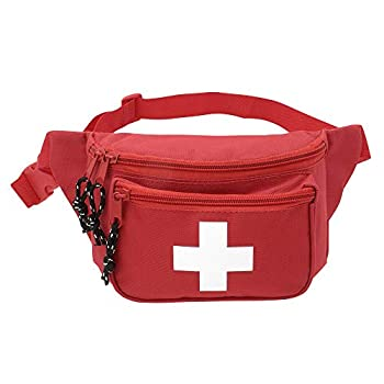 ASA Techmed First Aid Waist Pack - Baywatch Lifeguard Fanny Pack - Compact for Emergency at Home Car Outdoors Hiking Playground Pool Camping Workplace