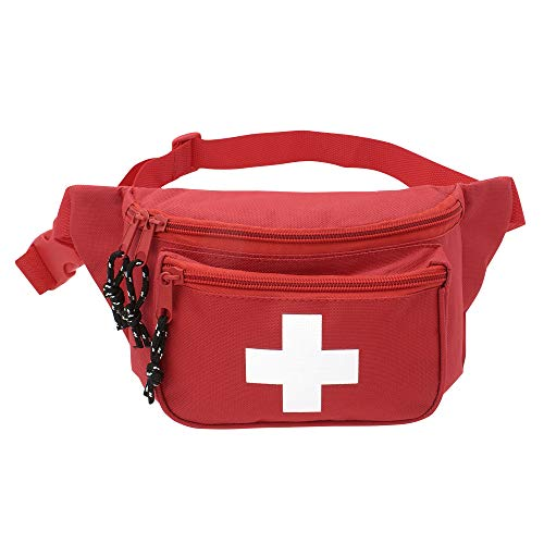 ASA Techmed First Aid Waist Pack - Baywatch Lifeguard Fanny Pack - Compact for Emergency at Home, Car, Outdoors, Hiking, Playground, Pool, Camping, Workplace