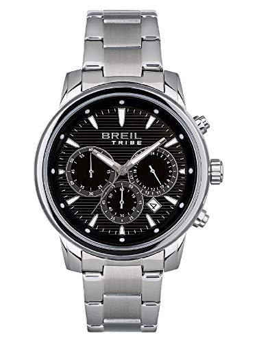 BREIL - Uhr für Mann rund mit einfarbigem Zifferblatt und Stahlgehäuse Sammlung Caliber