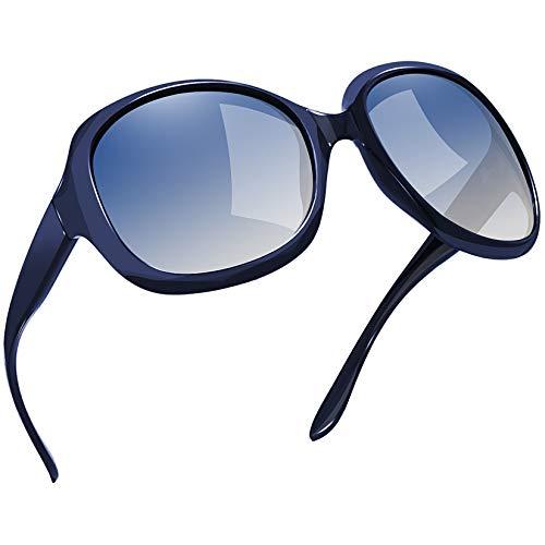 Joopin Gafas de Sol Mujer Moda Polarizadas Protección UV400 de Gran Tamaño Gafas de Sol Señoras Azul Marino