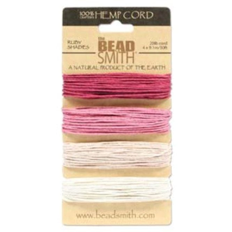 Hemp Twine Bead Cord 1.0mm - Ruby Colors App 30 Feet 42566