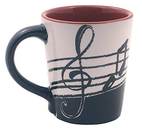 Kaffeetasse Musiknoten Scharz-Weiss