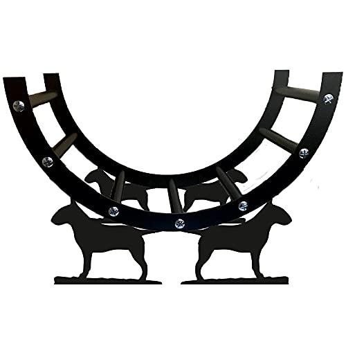 English Bull Terrier - Estante de acero para troncos