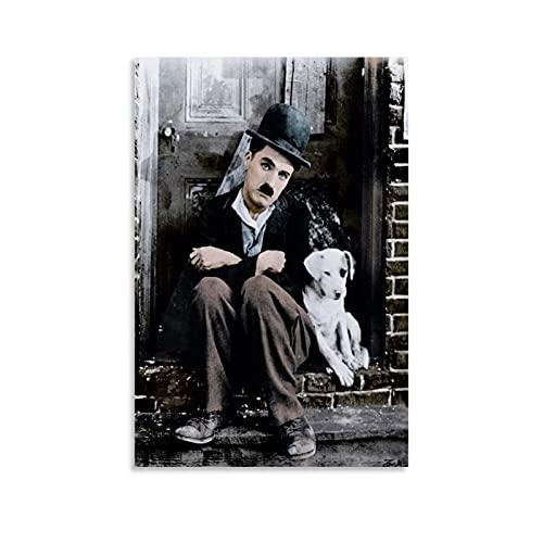 MEILANG Póster de Charlie Chaplin con diseño de comedia Charlie Chaplin y cuadro de pared moderno para decoración de dormitorio familiar de 20 x 30 cm