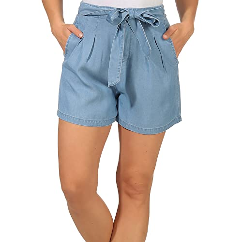 Vero Moda VMMIA HR Loose Summer Shorts GA Pantalones, Azul (Light Blue Denim Light Blue Denim), 34 (Tamaño del Fabricante: XS) para Mujer