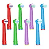 WyFun ブラウン オーラルB 対応 電動歯ブラシ 子供用 EB10 すみずみクリーンキッズ やわらかめ (8カウント)