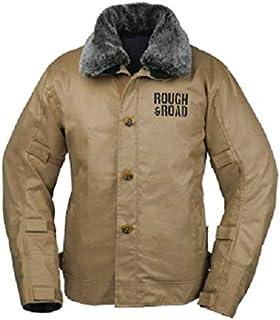 ラフアンドロード(ROUGH&ROAD) バイク用ジャケット N-1Rボアウインタージャケット フルパッド仕様 カーキ M RR7691