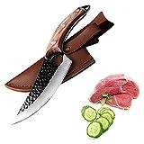Cuchillo de hueso de acero inoxidable Cuchillo de pesca hecho a mano Cuchillo de carne Caja de cocción al aire libre Cuchillo de carnicería Cuchillo de corte Cuchillo para cocinar juego de cuchillos d
