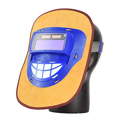 Eléctrico Casco De Soldadura Automático Solar Energía Máscara De Fotosensible Máscara De Soldador, Con Rango De Sombra Ancha Ajustable7-13 Para La Máscara Del Soldador De Arco De Mig Tig ,Amarillo