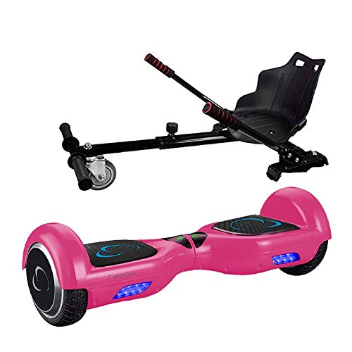 SmartGyro X2 Pink UL + Go Kart Pro Elektrische scooter en kaart, 6,5 inch wielen, lithium accu, robuuste en comfortabele structuur, voor kinderen en volwassenen, roze