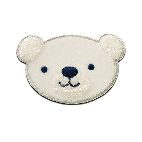 Teddy Bär - Aufnäher, Bügelbild, Aufbügler, Applikationen, Patches, Flicken, zum aufbügeln, Größe: 5,4 x 7,8 cm