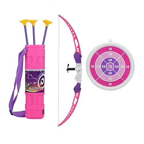 VGEBY Bogenschießen Spielzeug Set, Kinder Bogenschießen Bogen Pfeil Spielzeug mit Saugnapf Score Ziel für Kinder Outdoor Sports