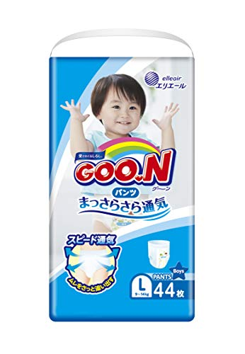 GOO.N Baby Windelhöschen für Jungen Gr. L (9-14 kg) 44 Stück Premium Qualität Made in Japan